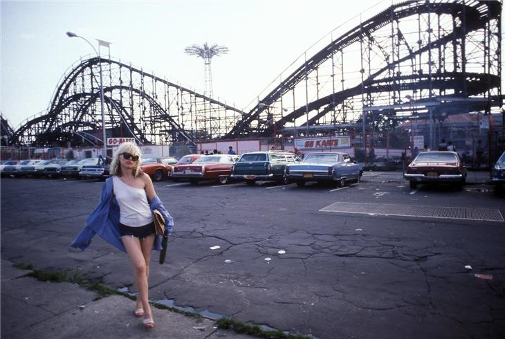 """""""Debbie Harry, Coney Island New York, 1977."""" Meet the photographer this week and buy a print -- although it will cost you more than $10."""