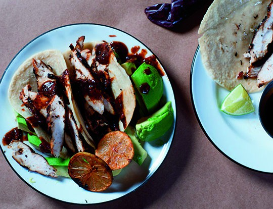 Easy grilled lime tacos from Dos Caminos.