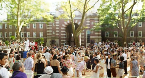 Revelers at the 2013 Governors Island Jazz Age Lawn party