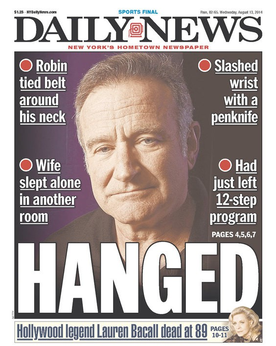 Heres What the Daily News Robin Williams Cover Should Have Looked Like The Village Voice