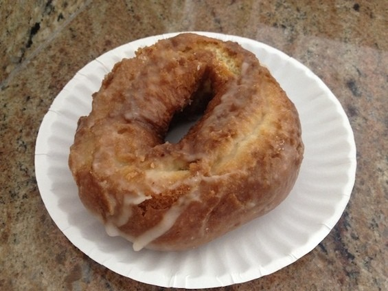 Moe's old-fashioned glazed doughnut