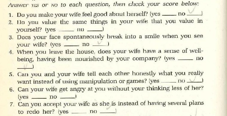 Here's 100 Ways to Love Your Wife, From a 1988 Evangelical
