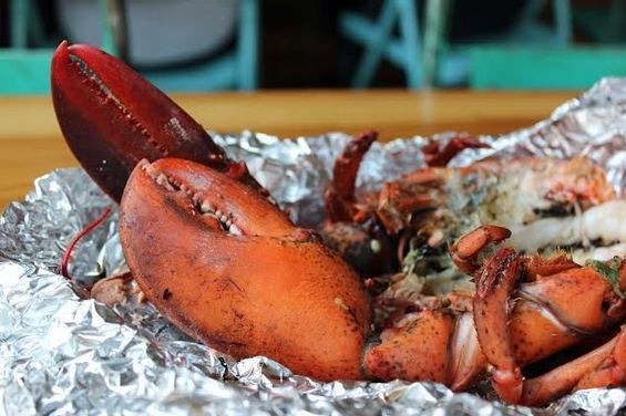 The jerk lobster at Glady's