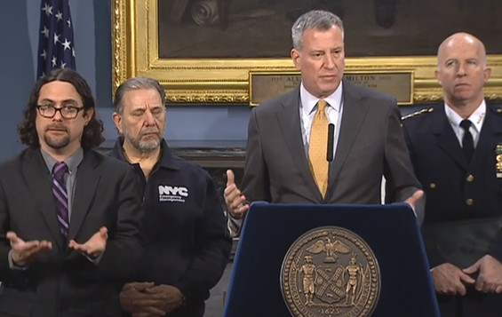 "Mayor Bill de Blasio said Tuesday that ""We got lucky. Things turned out a lot better than we feared, but we were prepared."""