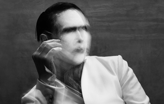 Manson as he appears on the cover for The Pale Emperor, released on January 15