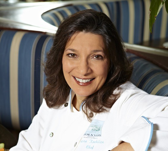 Author and Molyvos collaborating chef Diane Kochilas