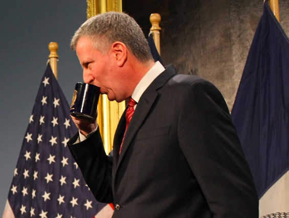 Staying in with a hot beverage is an important component of Mayor Bill de Blasio's Stay-Warm Plan for the holiday weekend.