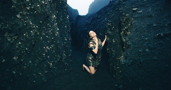 A still from Björk's Black Lake, directed by Andrew Thomas Huang