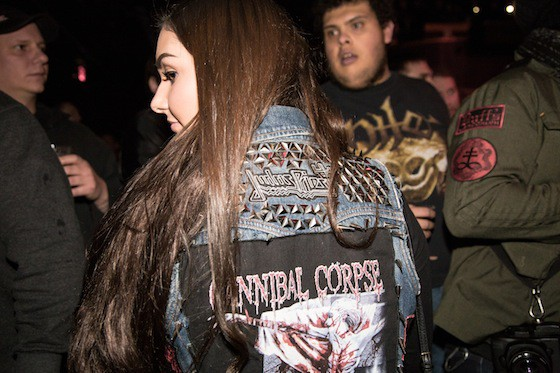 A fan awaits Cannibal Corpse's set amid the sold-out crowd at Webster Hall. Photos: Metal Reigns Over Webster Hall