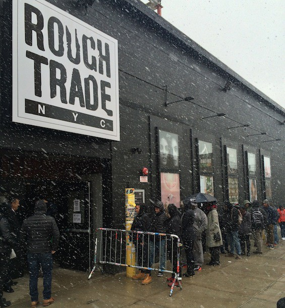 Snow couldn't keep fans away from Kendrick Lamar's Rough Trade NYC signing.