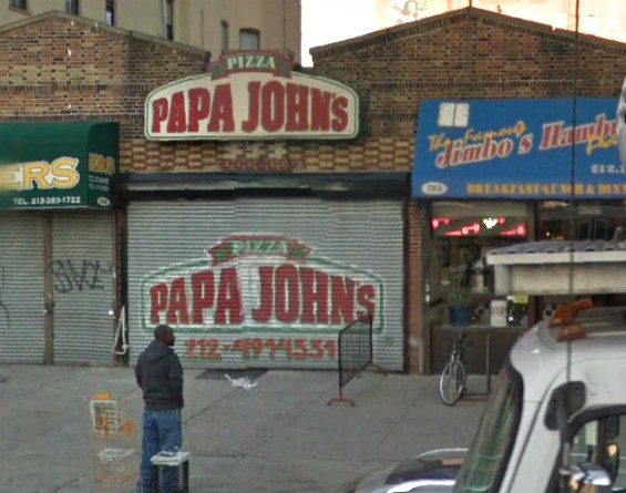 Ron Johnson's Papa John's location at 703 Lenox Avenue in Harlem