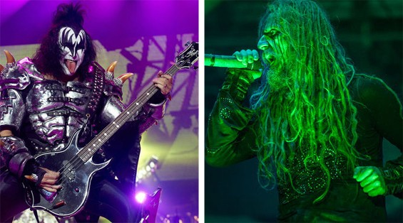 Gene Simmons and Rob Zombie