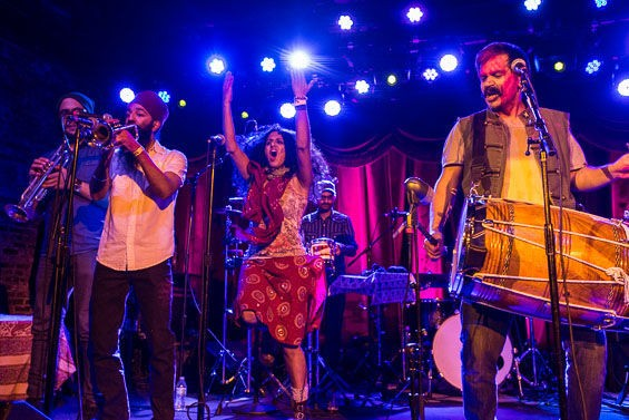 Red Baraat played Brooklyn Bowl on March 8, 2015.