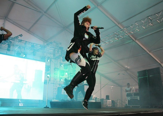 Kiesza achieves serious air at Governors Ball 2015.
