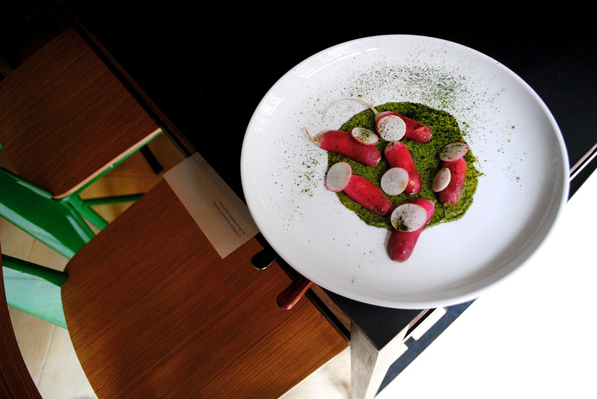 Breakfast radishes with seaweed butter at Contra spinoff Wildair, now open on Orchard Street.