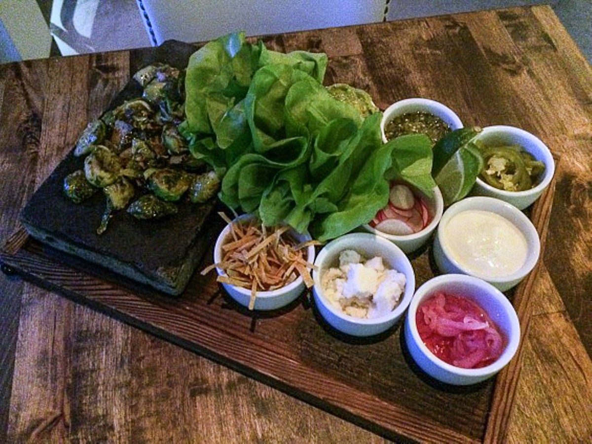 Brussels sprout tacos at Dirt Candy