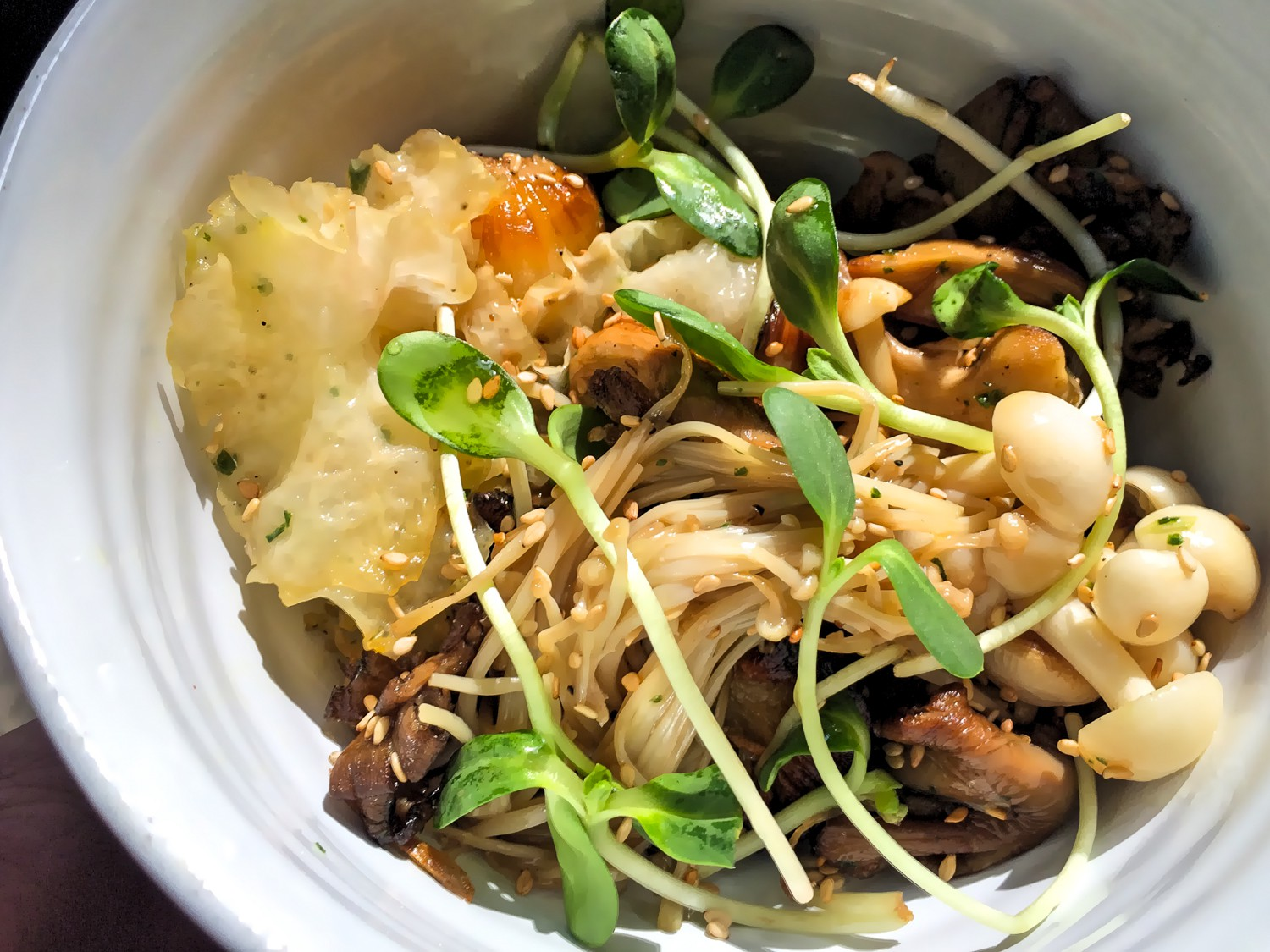 A bouquet of roasted mushrooms at Bara