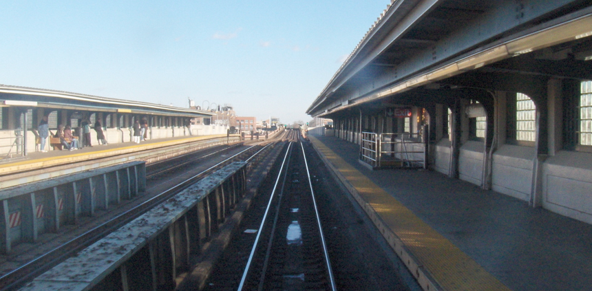 The platform at 40th Street – Lowery Street in Queens, where Erika Menendez pushed Sunando Sen onto the tracks in 2012.
