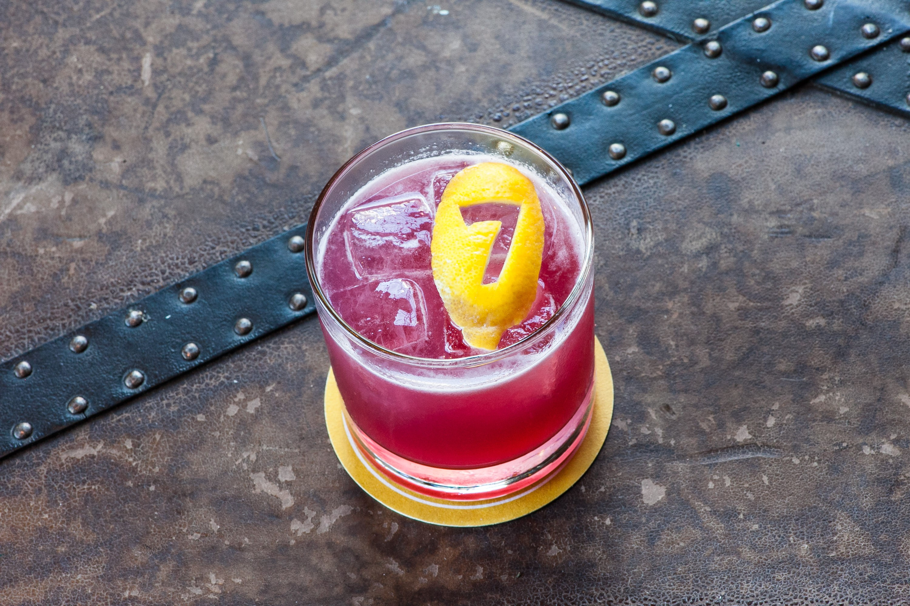 A violet-tinted cocktail: The Train's a-Comin'.
