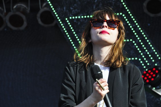 Chvrches' Lauren Mayberry at Northside Festival in 2014