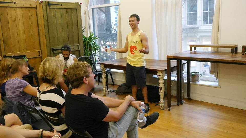 Michael Zaytsev, addressing a High NY meetup group