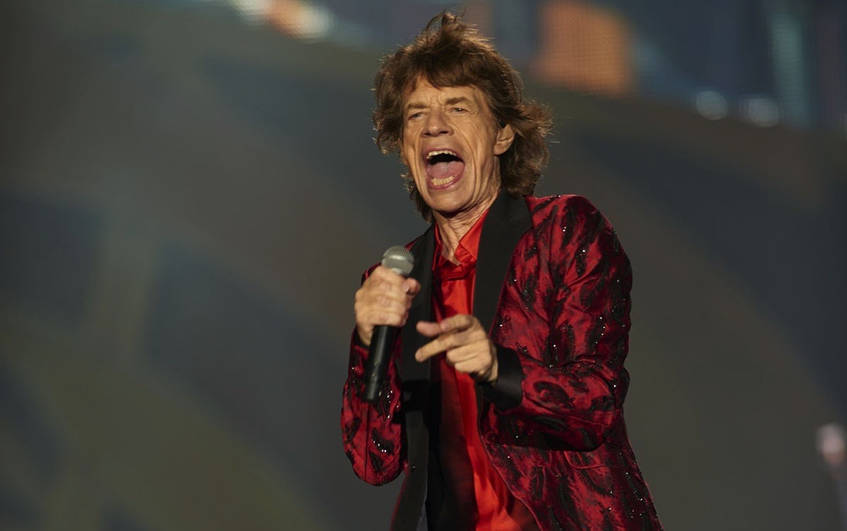Mick Jagger onstage with the Rolling Stones at TCF Bank Stadium in Minneapolis, June 3, 2015