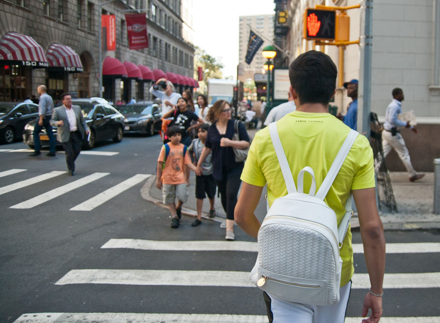 Jaywalkers galore at Fulton and William streets in Manhattan