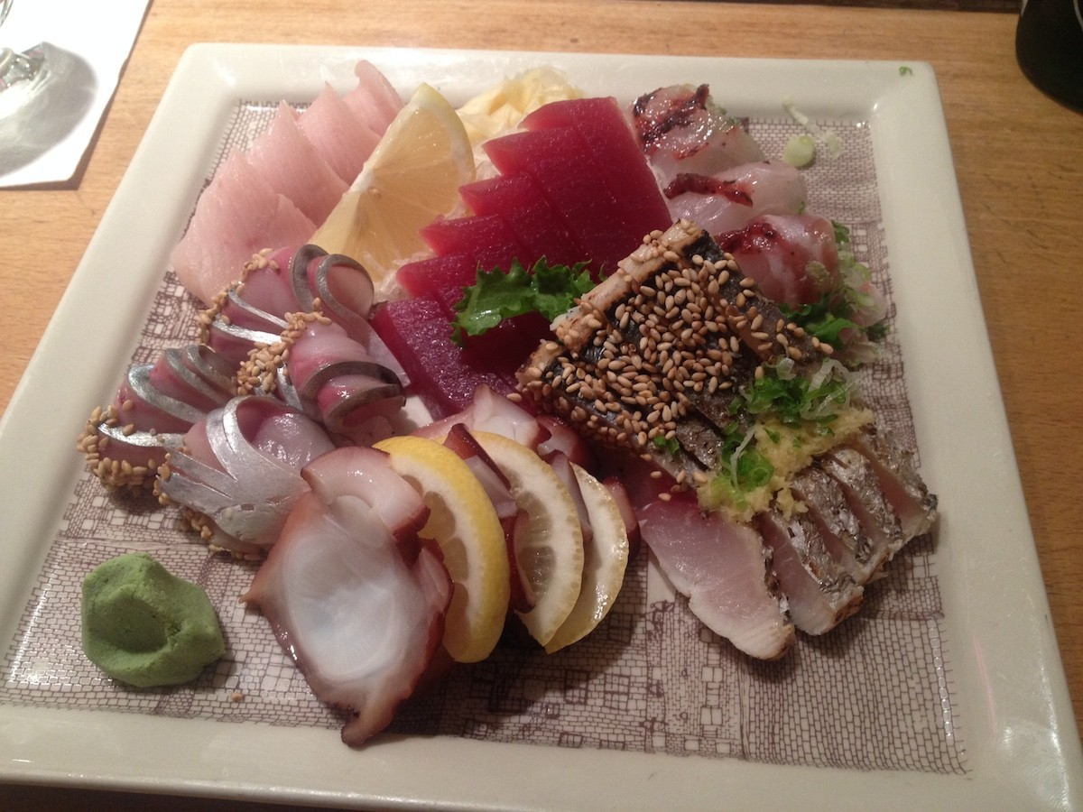 Geido's sashimi platter: the main event of about seven courses
