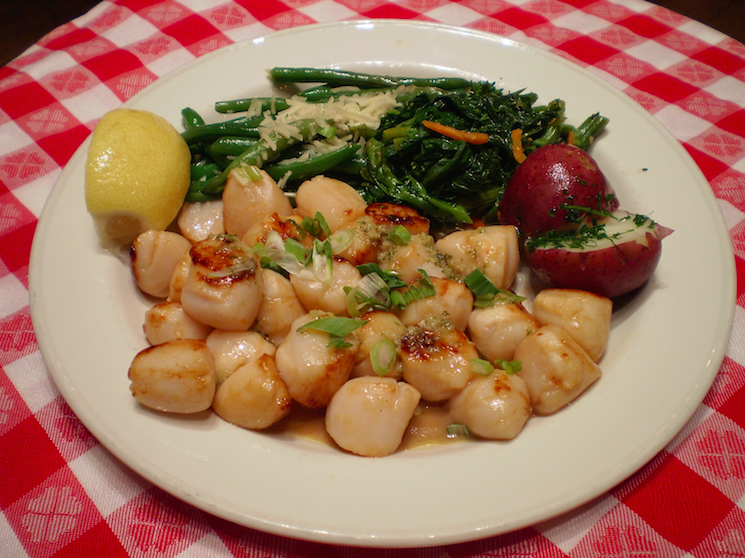 Peconic Bay scallops, a sweet delicacy