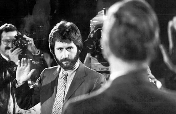 Serpico testifying before the Knapp Commission in the early 1970s