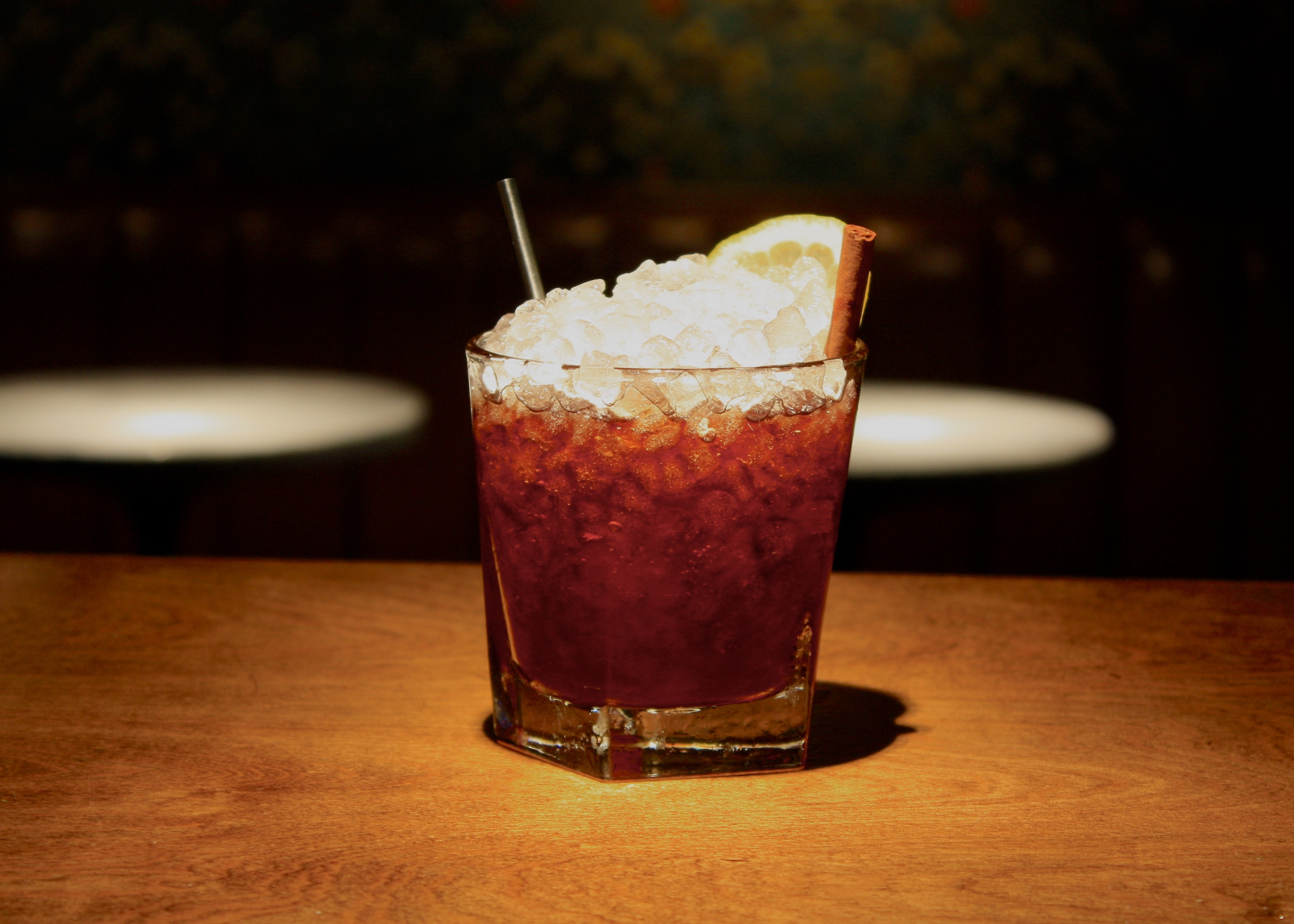 Warm up inside with a port cocktail