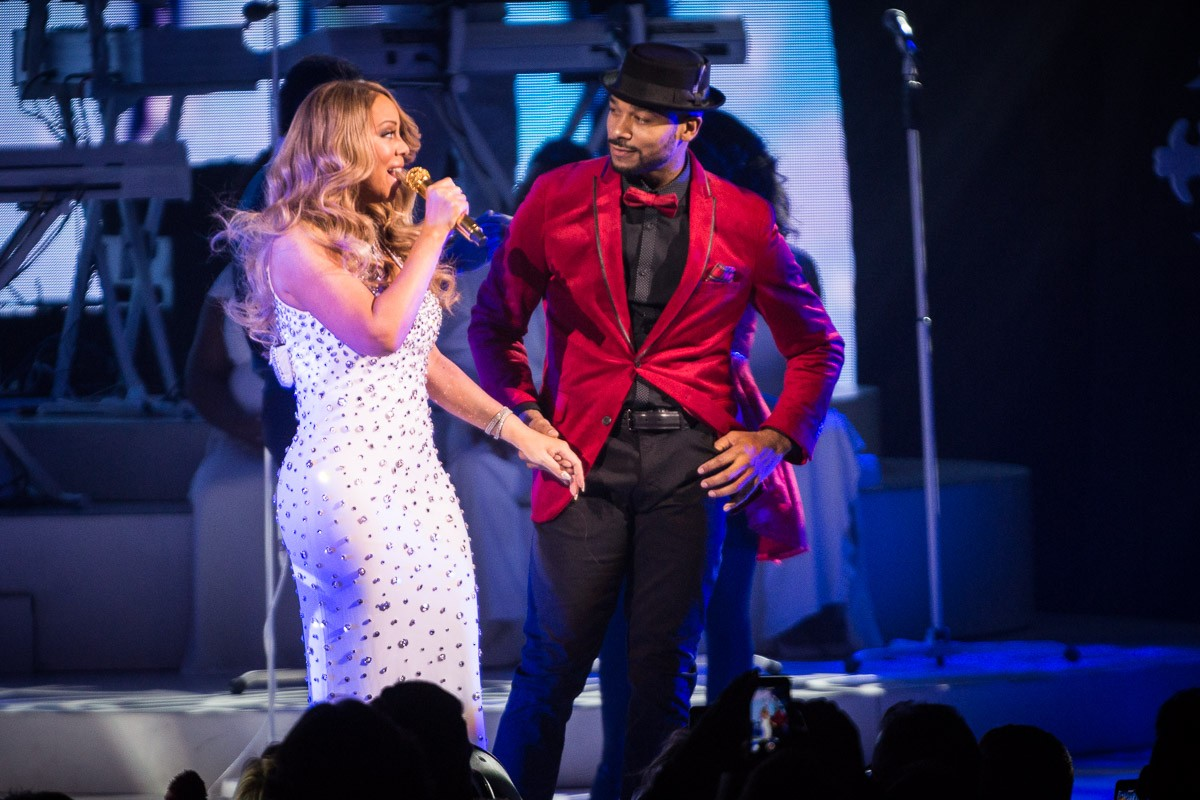 Mariah Carey at the Beacon Theatre for her All I Want for Christmas Is You concert series