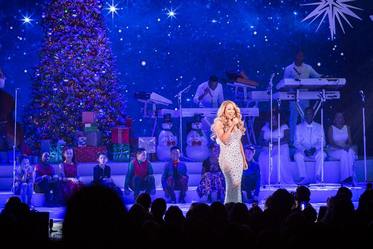 Mariah Carey onstage at the Beacon Theatre
