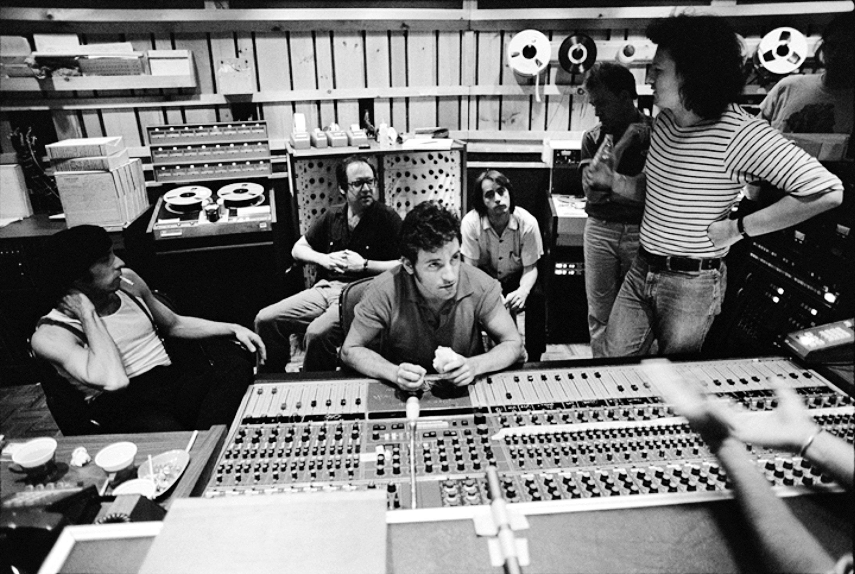 The Boss at the soundboard