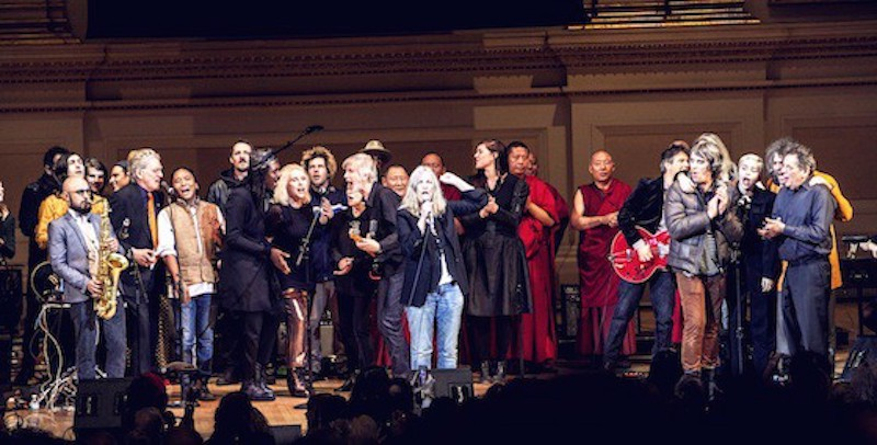 The performers of the 2015 Tibet House Benefit — including Patti Smith, Debbie Harry, Wayne Coyne, and more — at Carnegie Hall