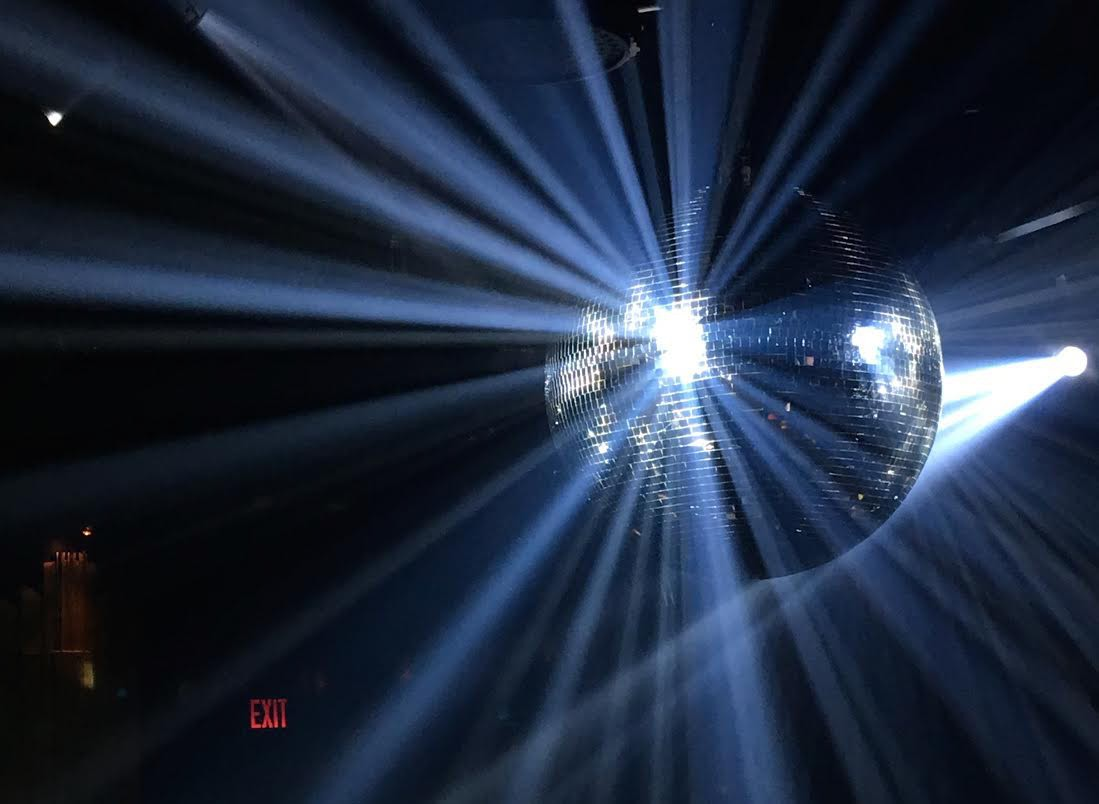 They turned on the disco ball, of course.