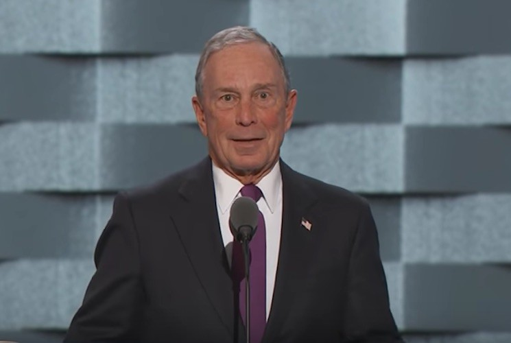 Michael Bloomberg speaking at the DNC last night.