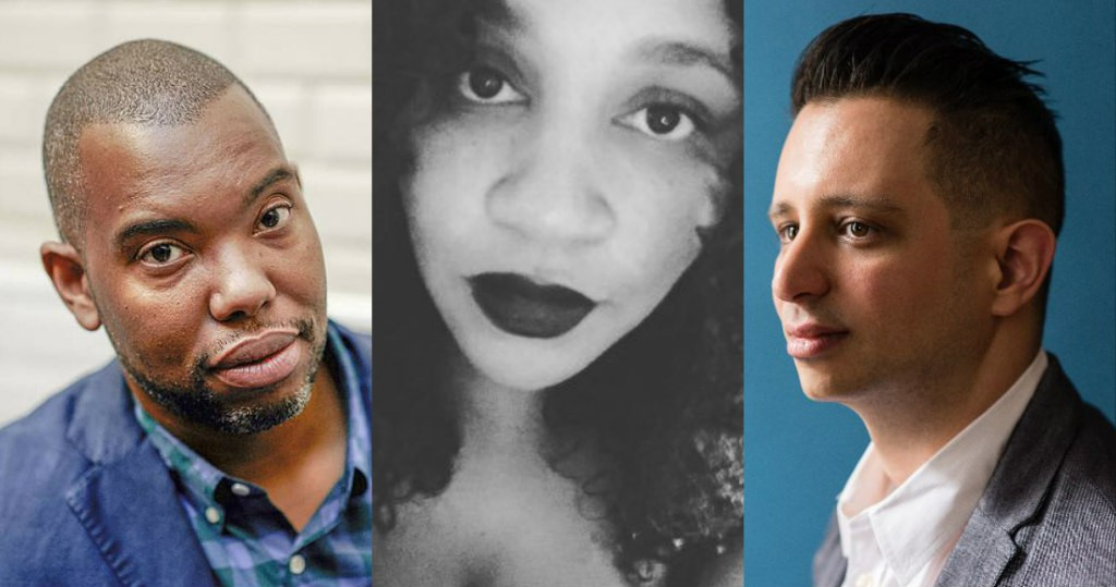 """Race & Sexuality"" panelists Ta-Nehisi Coates, Tee ""Vixen"" Franklin, and Steve Orlando"