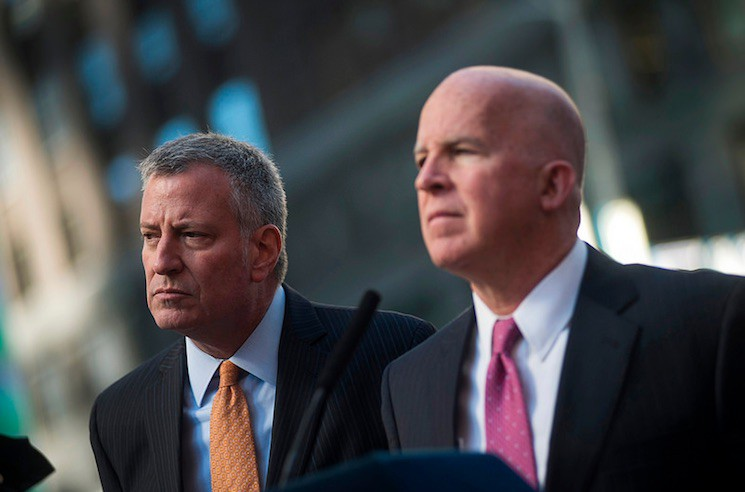 Mayor Bill de Blasio, Police Commissioner James P. O'Neill, and Special Agent in Charge of the U.S. Secret Service David Beach host a press conference to discuss Election Day security preparations.