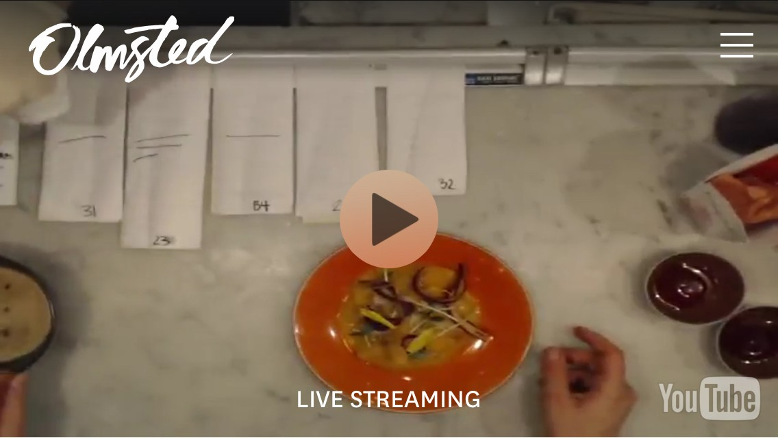 Olmsted's livestream