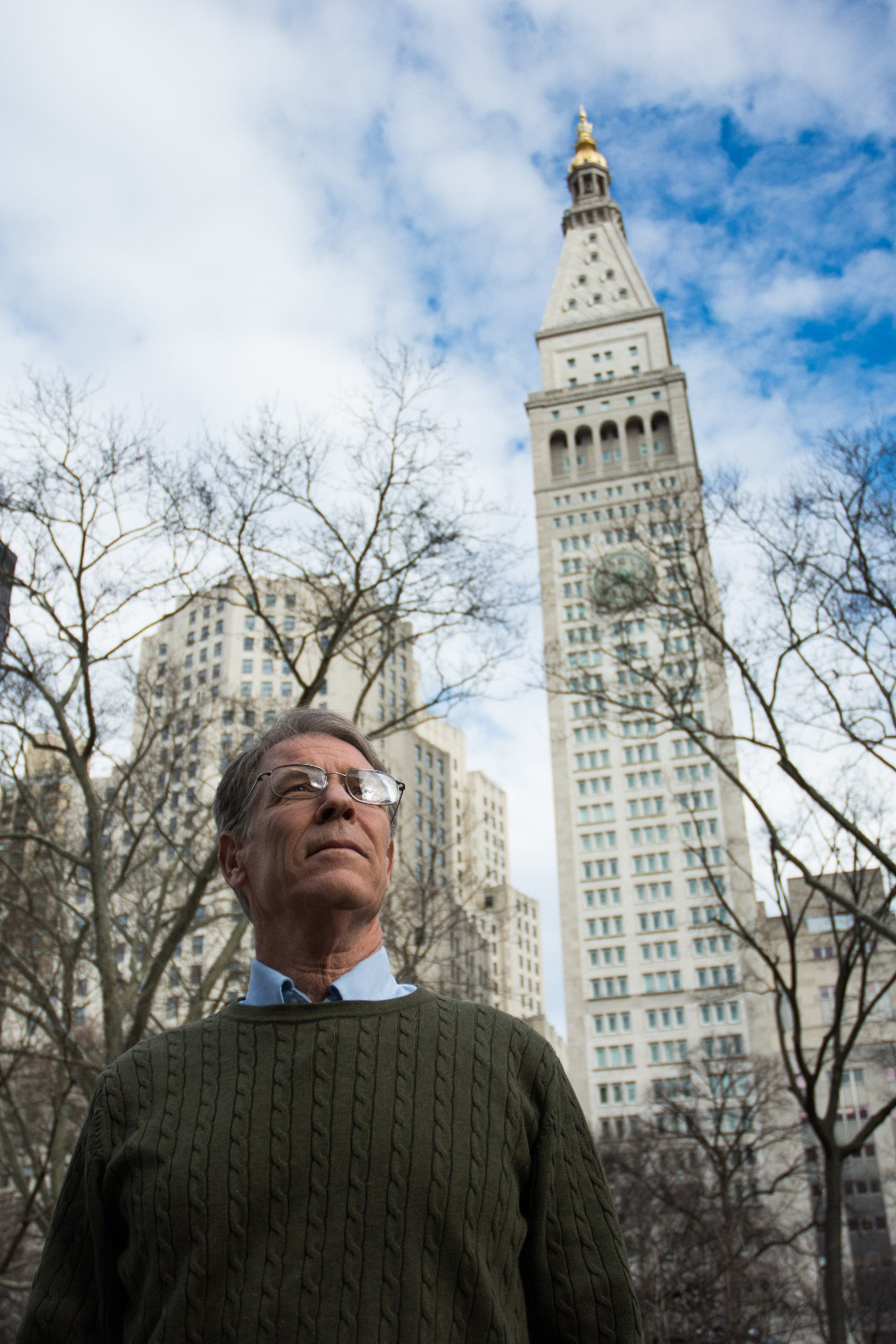 The Met Life tower looms over Robinson and his novel.