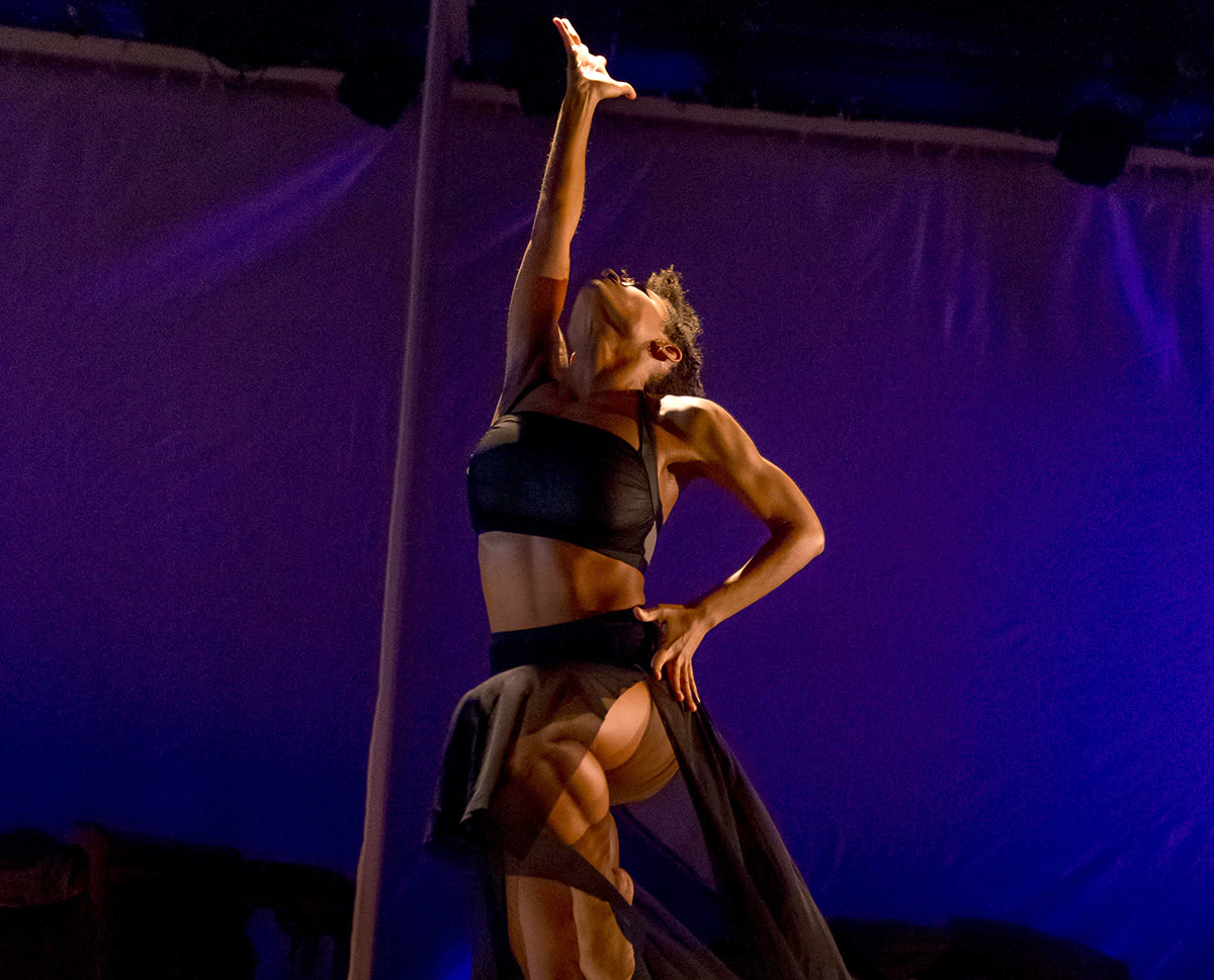 """Jinah Parker during the May 5 opening-night performance of """"She"""" at the Here Arts Center"""