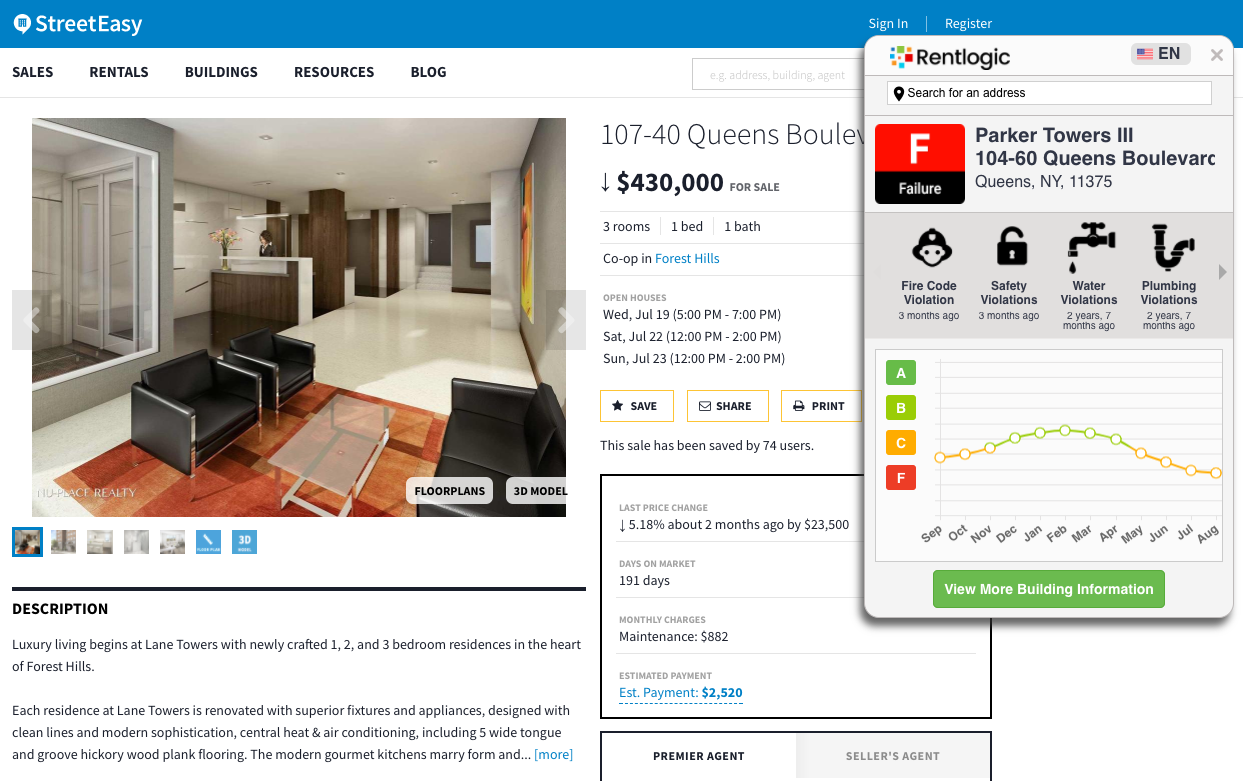 Plug-In Promises to Show You How Crappy That StreetEasy Apartment