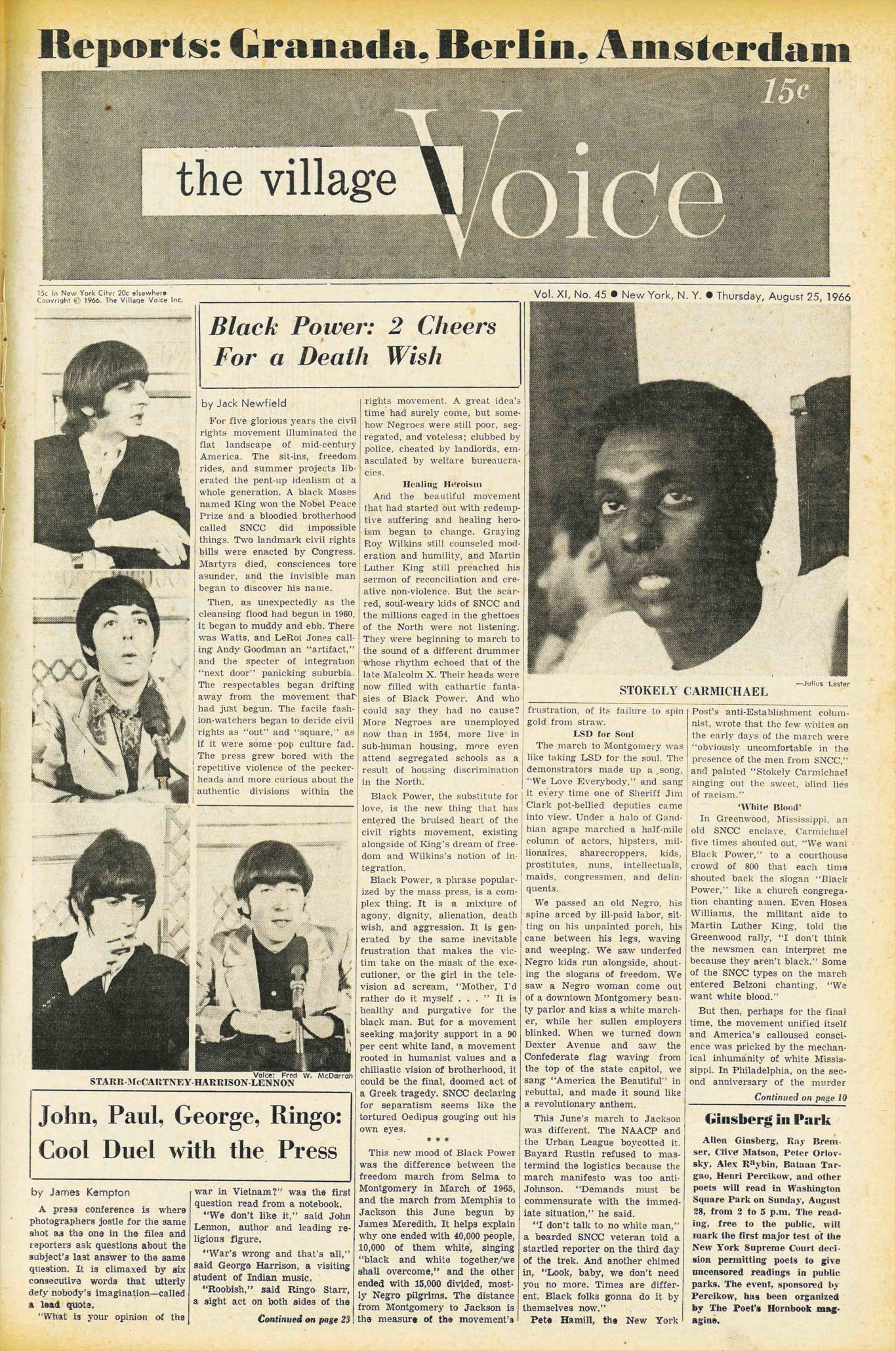 John, Paul, George, Ringo: Cool Duel With the Press