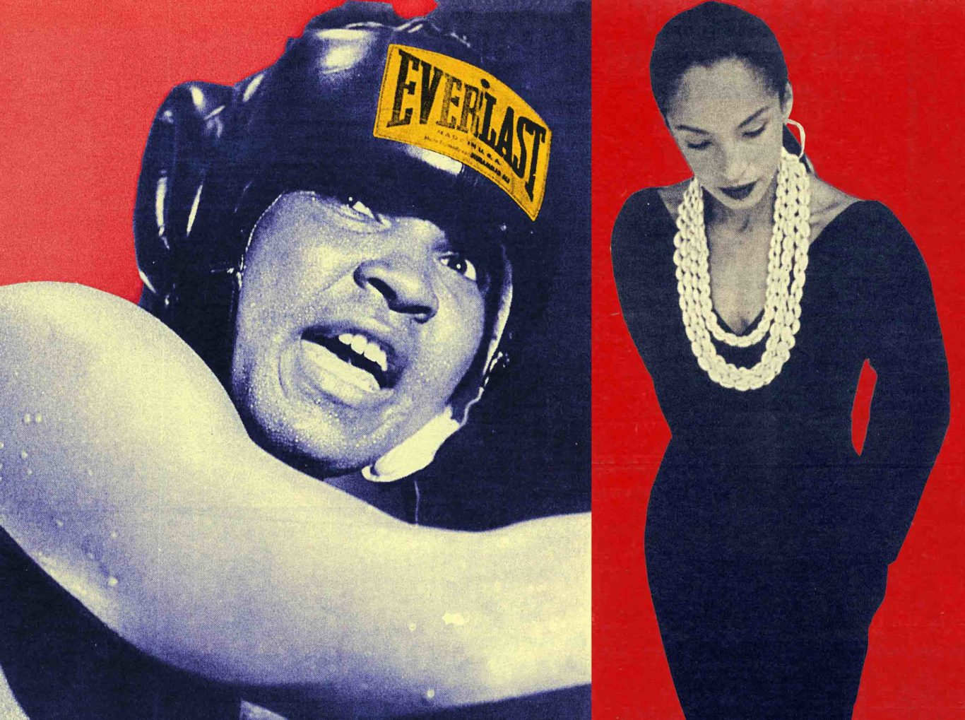 Muhammad Ali and Sade for Nelson George article Post-Soul Culture