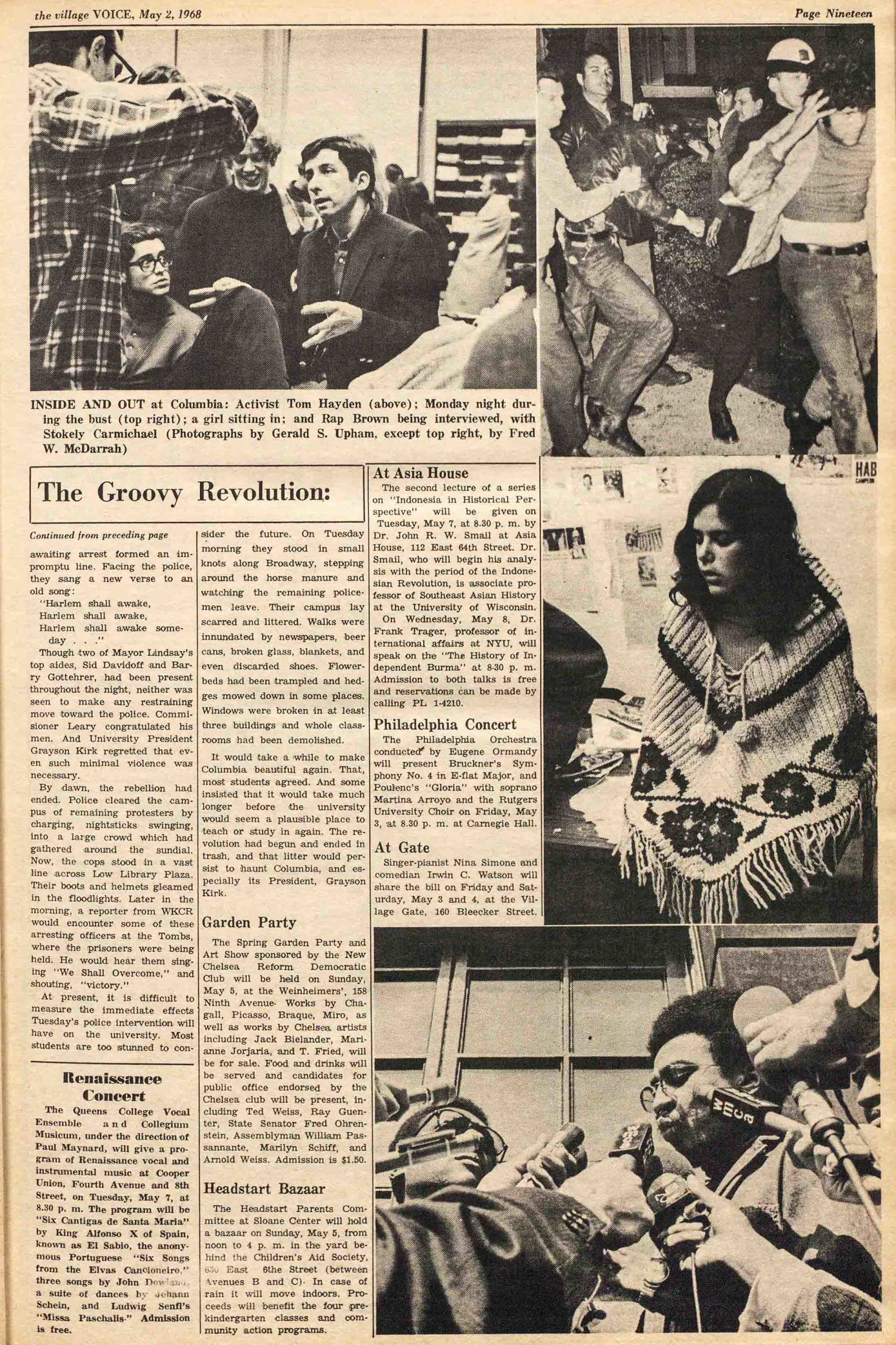 1968 Village Voice article by Richard Goldstein about the student revolt at Columbia University