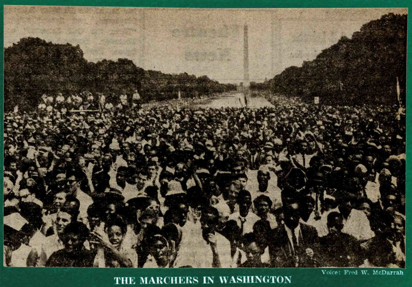 SEPT_05_1963_VILLAGE VOICE article about THE MARCH ON WASHINGTON FOR CIVIL RIGHTS by Marlene Nadle