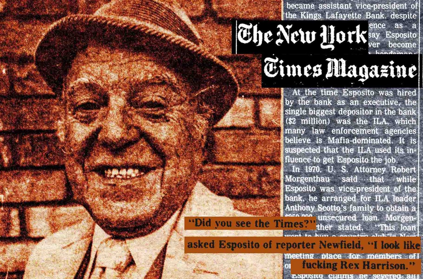 1974 Village Voice article by Jack Newfield about Democratic machine politician Meade Esposito's ties to the mob