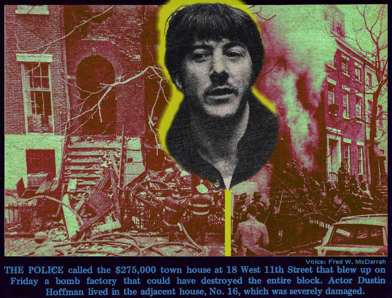 1970 Village Voice article by Ron Rosenbaum about the Weathermen blowing up a townhouse on 11th Street