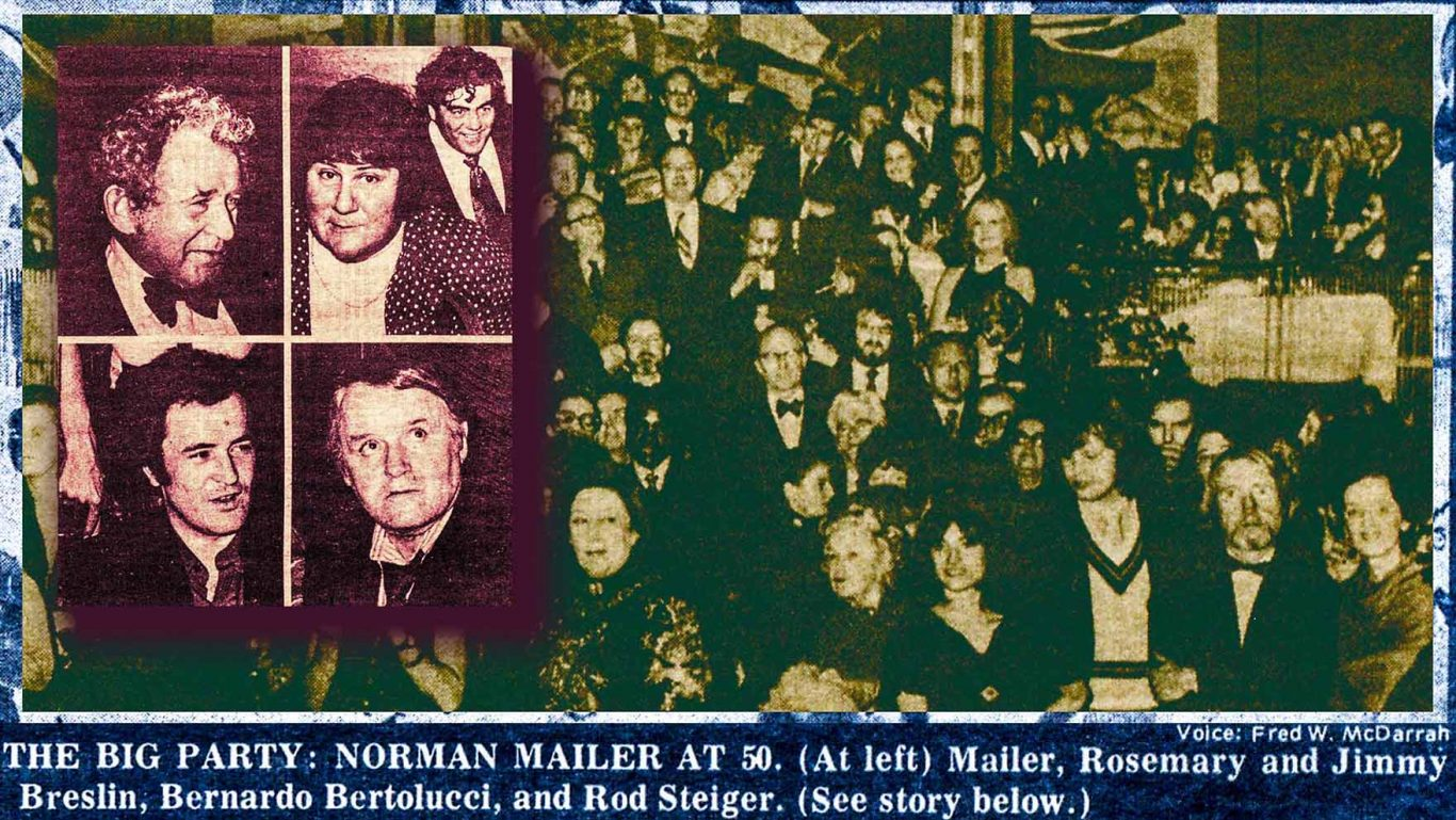 1973_Village Voice article by Lucian K Truscott IV about Norman Mailer 50th Birthday
